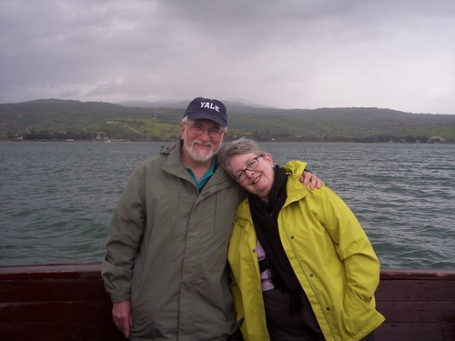 Harry and Jan Attridge, Galilee boat ride