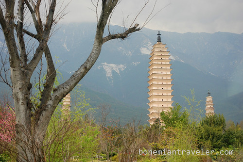 three pagodas of Dali China