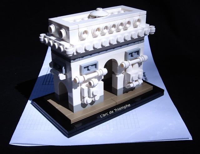 achitecture contest l 39 arc de triomphe special lego. Black Bedroom Furniture Sets. Home Design Ideas