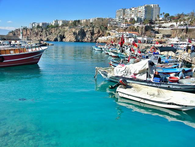 Harbor view in Antalya, Turkey - Flickr CC Alex Kulikov