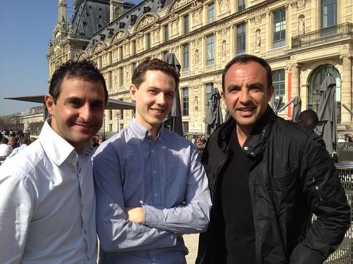 A Paris avec Nikos Aliagas, Marc Maniez (Manager chez Twitter Inc. à San Francisco) et Arash Derambarsh  by Arash Derambarsh