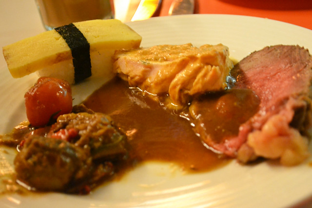 Salmon and Roast Beef, The Line, Shangri-la Hotel
