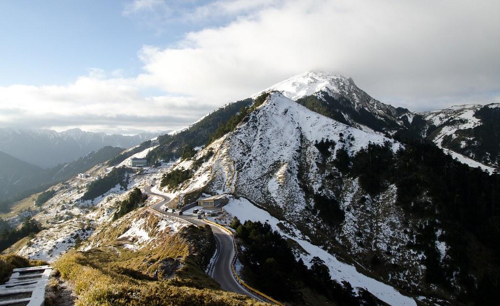 石門山合歡山日出 雪景