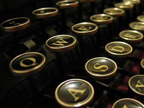 Corona Standard typewriter keys, 1930s