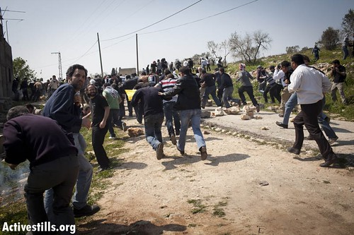 Protest against the occupation, Kfer Qaddum, West Bank, 23.3.2012