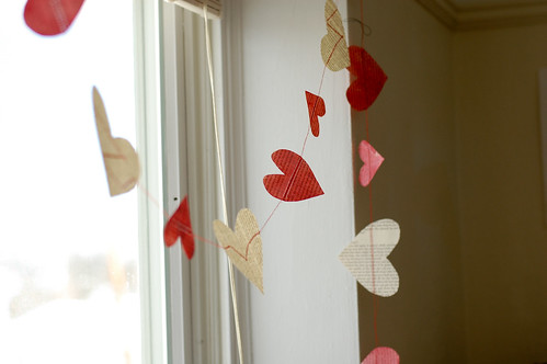 Stars for Streetlights: DIY Heart Garland