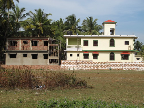 2 new buildings in Goa, one still unpainted