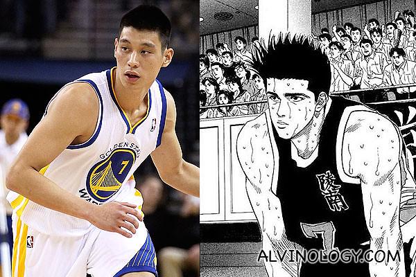 Akira Sendo on the left; Jeremy Lin on the right?