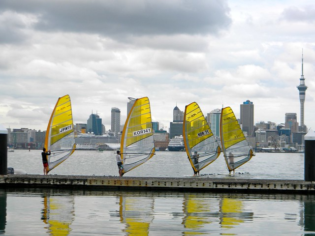 Olympic Windsurfers Sans Wind by toastfloats