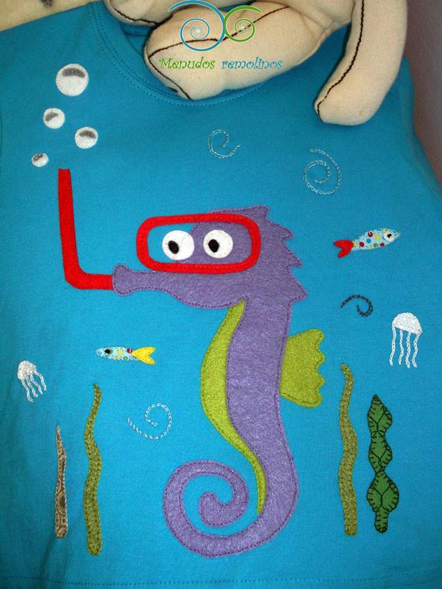 Camiseta personalizada En el mar