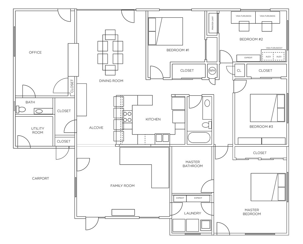 Renovated floor plan