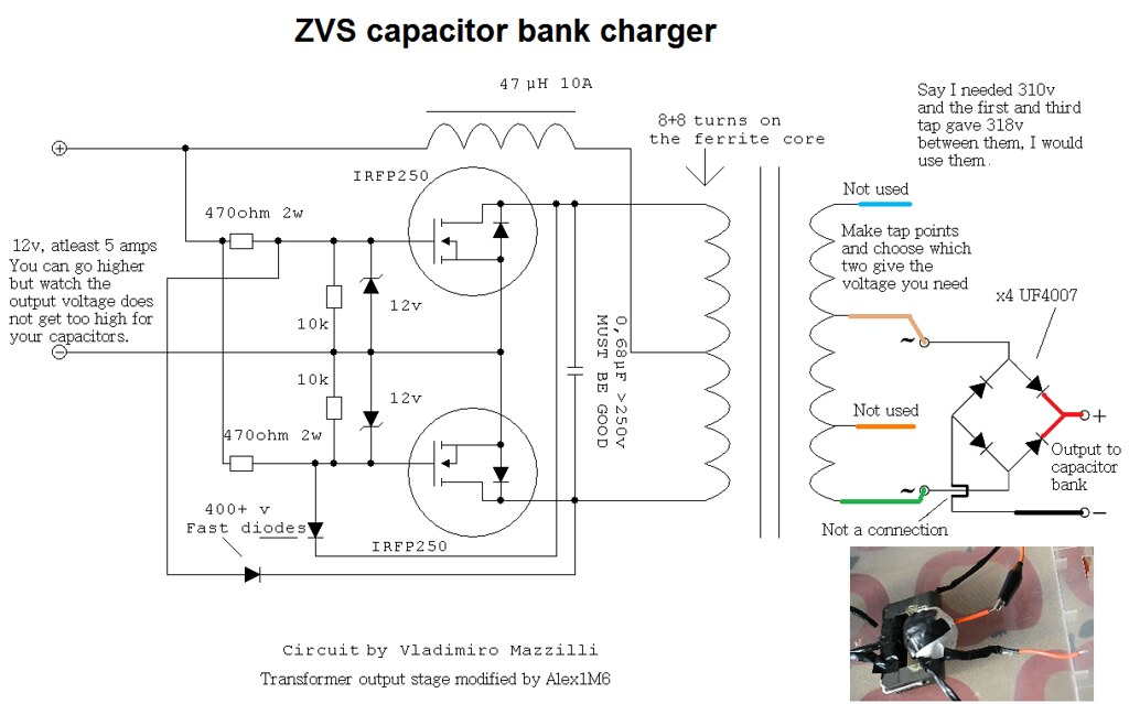 zvs capacitor charger circuit charge your capacitor bank w\u2026 flickrZvs Capacitor Charger Circuit Flickr Photo Sharing #2