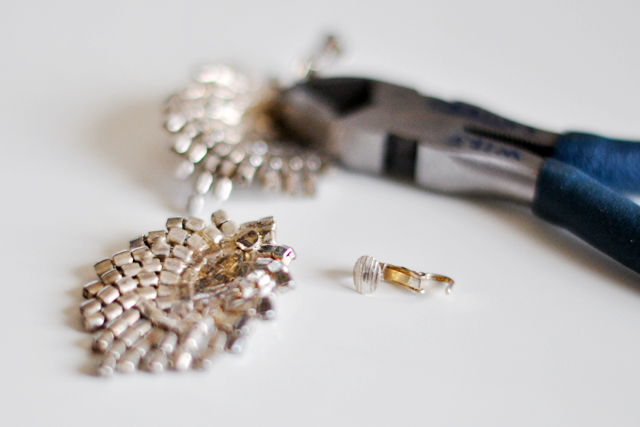 vintage rhinestone earrings DIYs 2