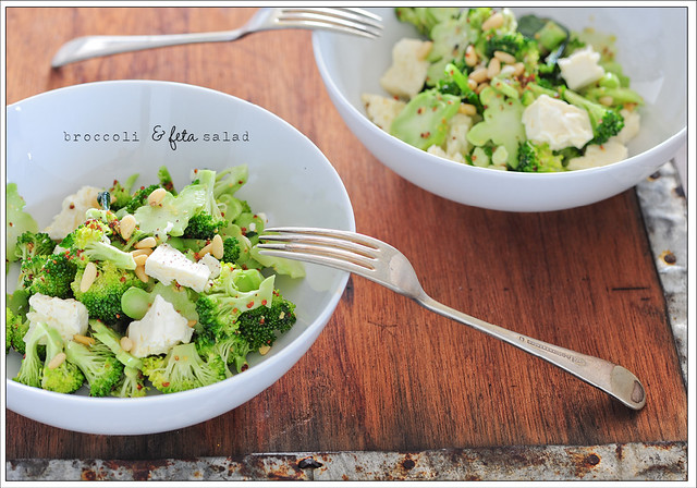 broccoli & feta salad