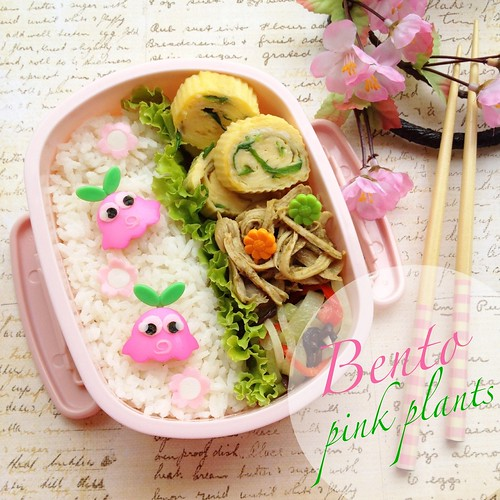 Pink Plants Bento