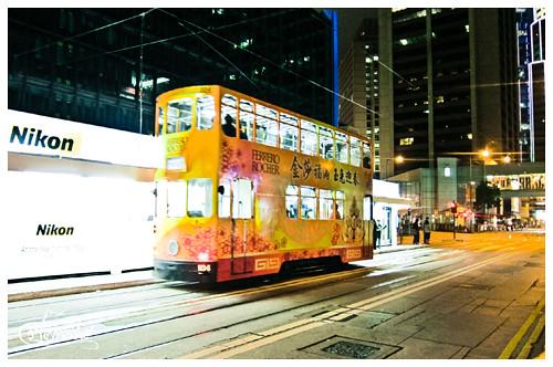 ding ding tram on des voeux road