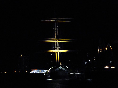 Tall Ship at Night, River Clyde