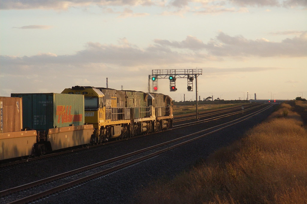 NR81 trails NR85 and NR64 on MA5 superfreighter to Adelaide by bukk05