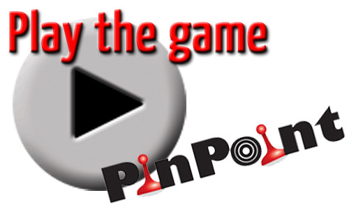 Play button with the PinPoint logo