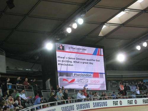 My tweet on the big screen!
