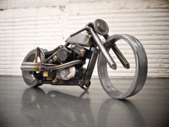 Nuts and Bolts motorcycle sculpture