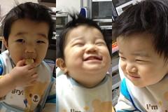 お昼にバナナ食べるとらちゃん(2012/2/19)