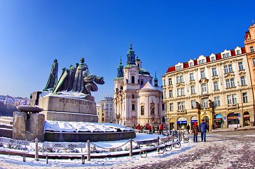 Prague Staroměstské náměstí 24 Jan Hus Memorial, Svatý Mikuláš