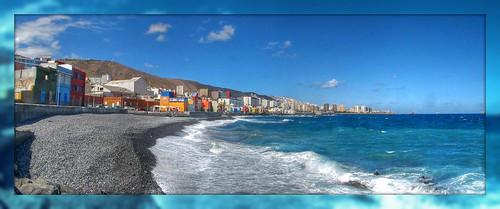 Foto panorámica El barrio marinero de San Cristobal en Las Palmas de Gran Canaria by El coleccionista de instantes