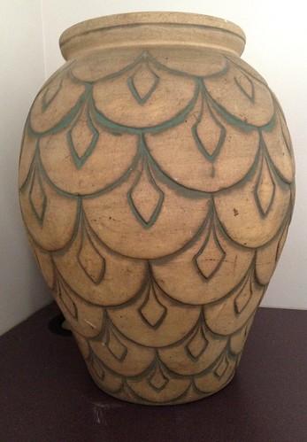 large peacock ceramic vase