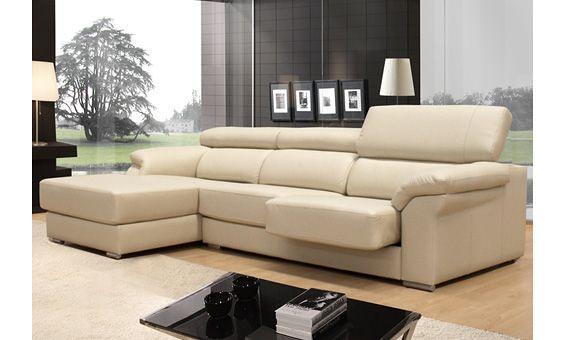 Sof en piel beige con asientos desplegables flickr for Sanchez granada sofas