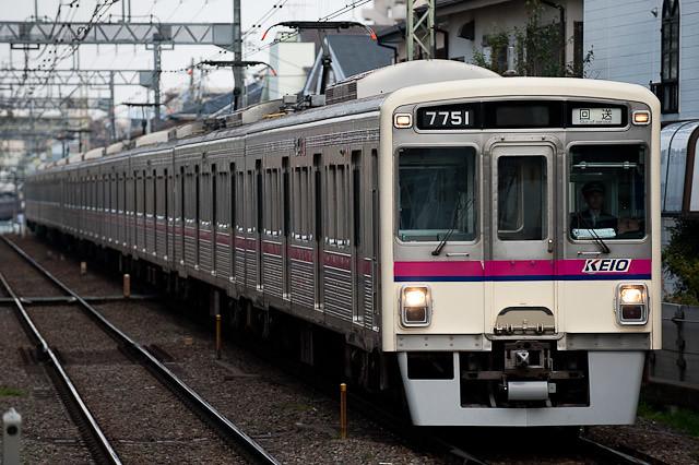 京王電鉄7000系 7206F 出場回送