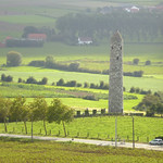 View S from Messines church spire to Irish Peace Park and Tower