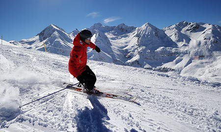 Esquiador en Peyragudes