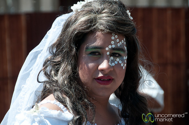 Transvestite Bride for Mardi Gras - San Martin Tilcajete, Mexico