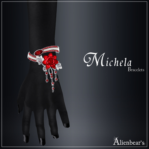 Michela bracelets red
