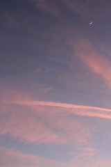 horizon(0.0), cumulus(0.0), red sky at morning(0.0), astronomical object(0.0), dawn(0.0), sunrise(0.0), cloud(1.0), evening(1.0), daytime(1.0), sky(1.0), dusk(1.0), sunset(1.0), afterglow(1.0),