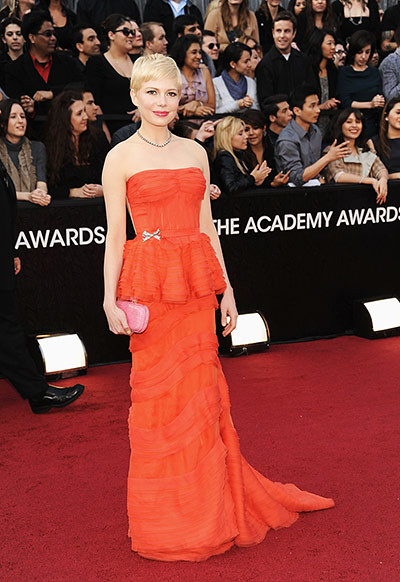 Michelle Williams, Best Actress nominee, in Louis Vuitton