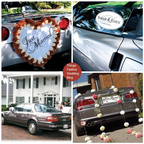 wedding car decorations Visit us at ThingsFestivecom for stylish wedding