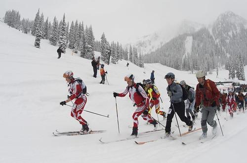 Melanie Bernier (far left) and Cam Shute (front row right)Photo: Scott Jeffery