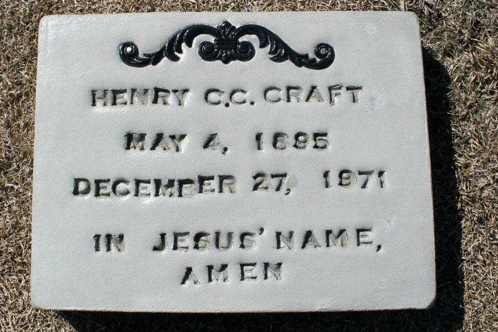 "Henry Corbit ""CC"" Craft Headstone"