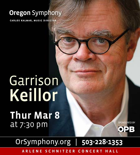 Oregon Symphony Presents Garrison Keillor
