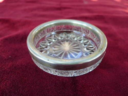 cendrier ancien argent verre by angelarune