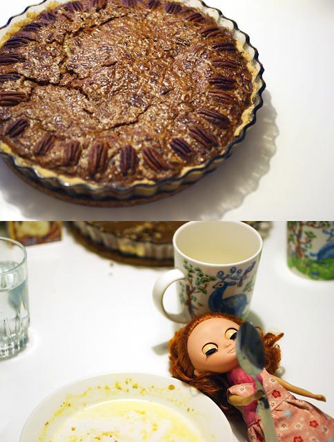 Yummy pecan pie!