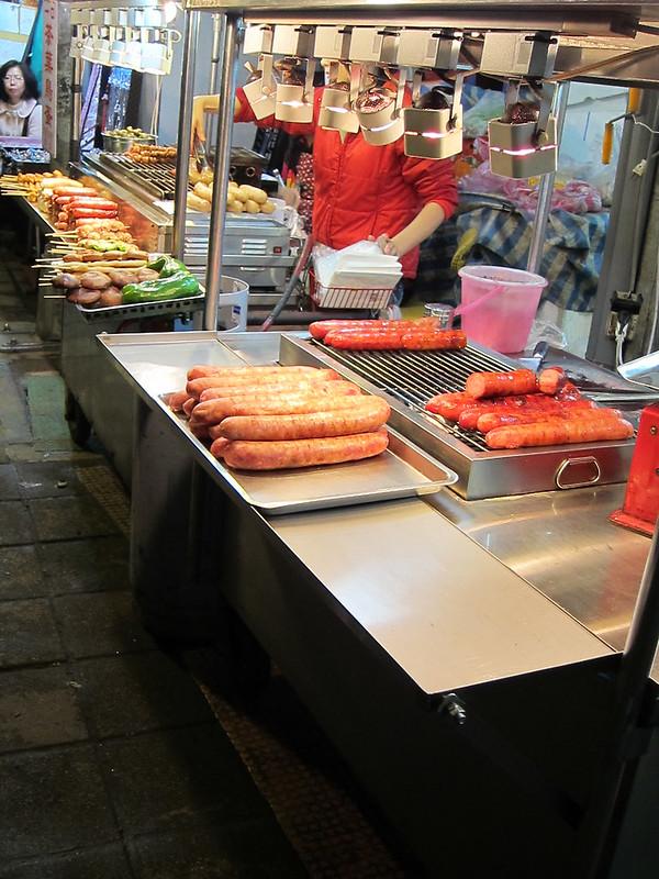 Sausages at Taiwan's Shilin Market