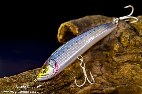 Megabass Or-Poi surface lure. Multiple exposures painted with a led light
