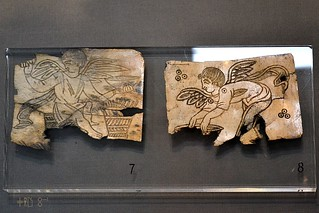 Ivory plaques from the Temple of Isis at Kenchreae, Isthmia Museum, Jult 2011