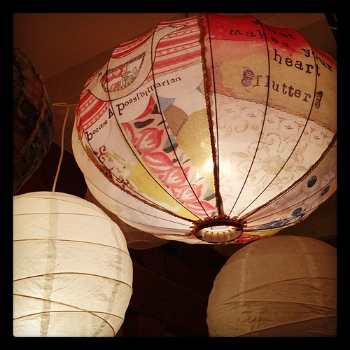 One of my favorite new products with my home decor line! Fabric lanterns.