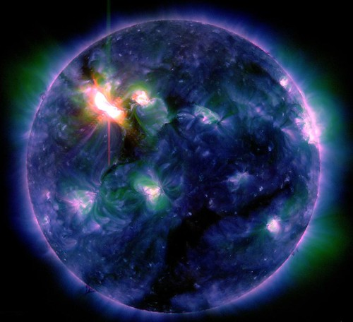 Multiple-wavelength View of X5.4 Solar Flare