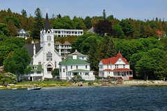 St. Anne's Catholic Church, Mackinac Island, Michigan by Michigan Nut