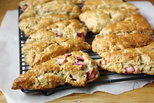 rhubarb oatmeal scones.